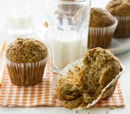 chewy banana muffins (t)