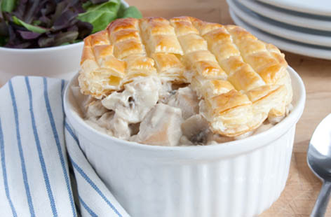 chicken and mushroom pie 1
