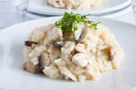 chicken and mushroom risotto 1
