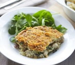 Chicken, mushroom and spinach bake