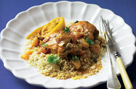 chicken tagine with apricots THUMB