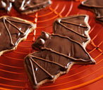 Chocolate ginger bat biscuits