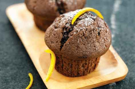 Chocolate orange and honey muffins | Tesco Real Food