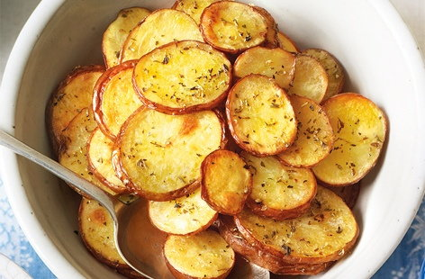 Crispy oregano and lemon potatoes