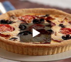 English breakfast quiche