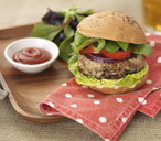 Gluten-free pork, apple and sage burger