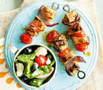 greek pork skewers (t)