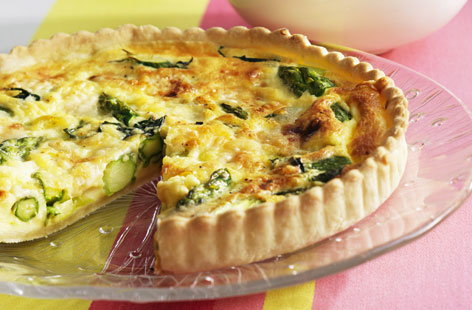 green asparagus quiche THUMB