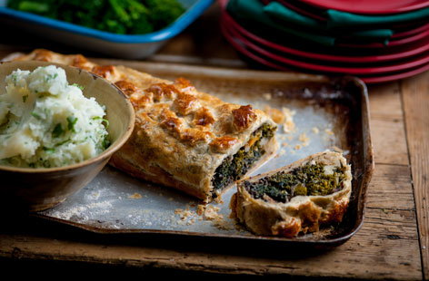 Andy Waters' veggie Wellington with herby mash