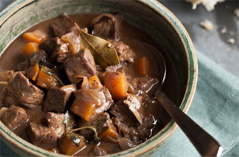 Beef and butternut squash pot