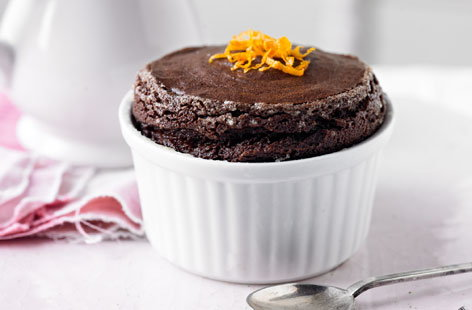 Chocolate orange soufflé