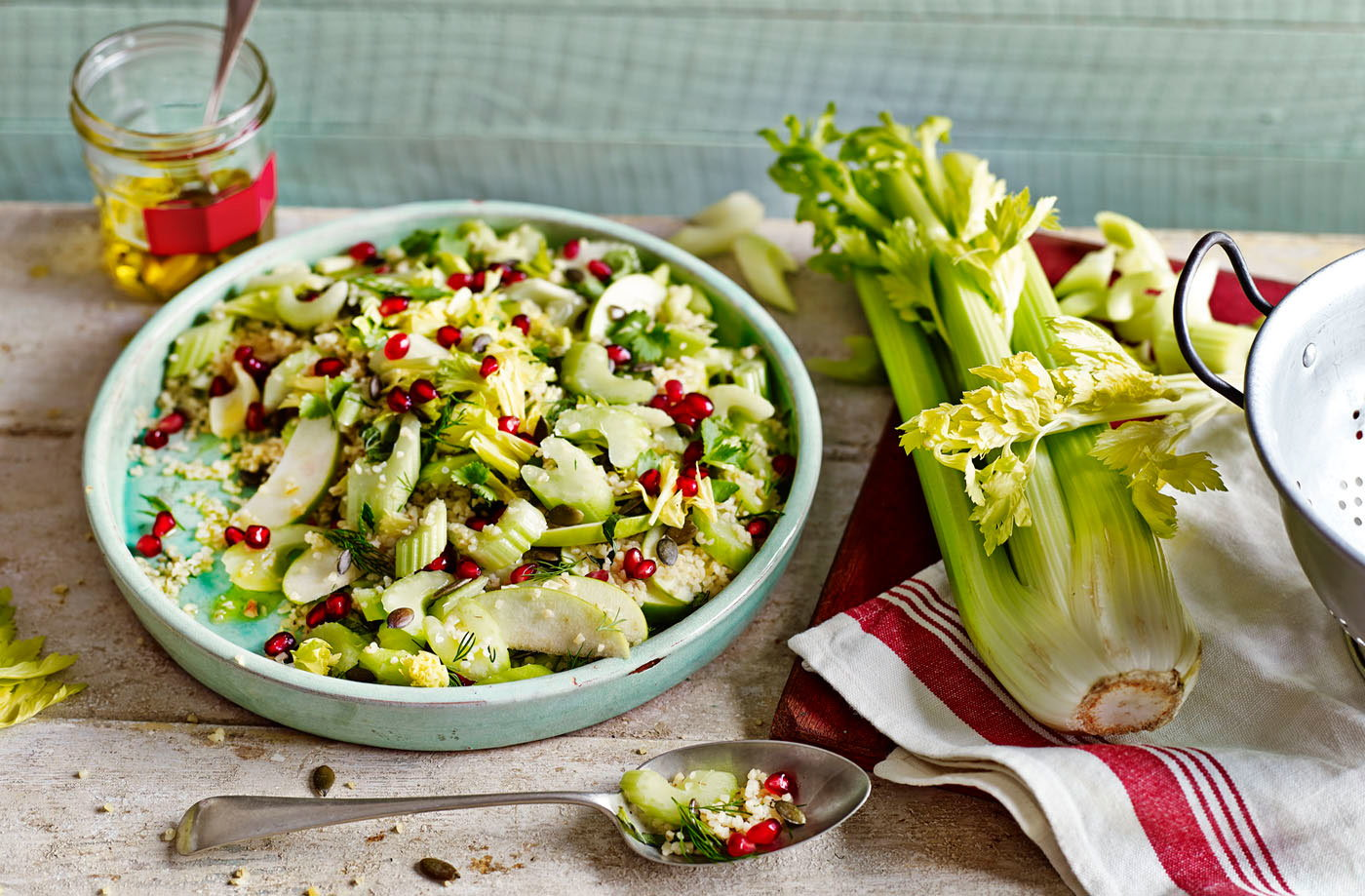 Bulgur, Celery And Pomegranate Salad Recipes — Dishmaps
