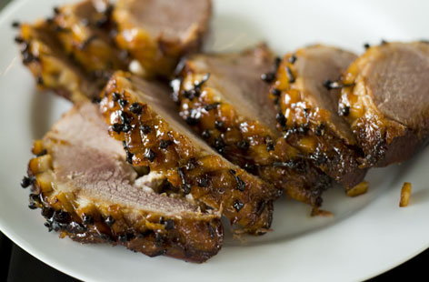 honey glazed ham THUMB