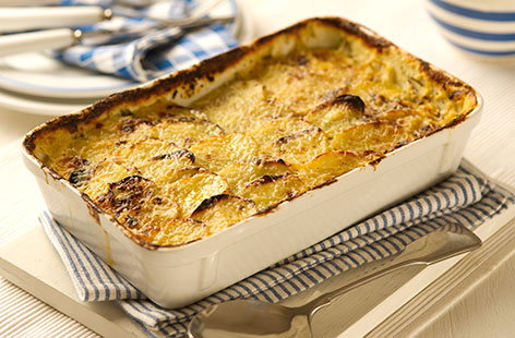 Tarragon and brie potato gratin