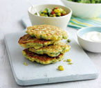 ipad weetcorn and coriander fritters T