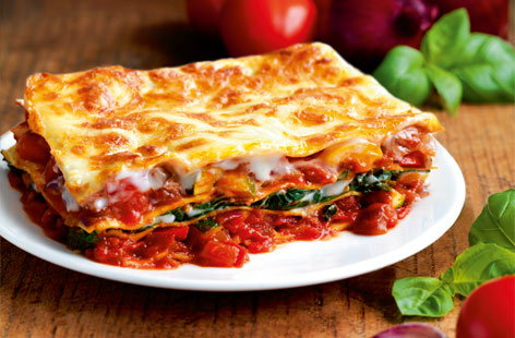 Tri-coloure lasagne