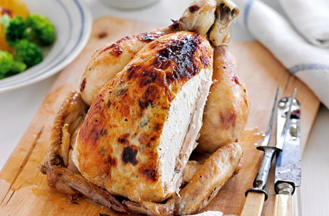 lemon mascarpone roast chicken HERO