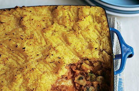 Lentil and mushroom cottage pie