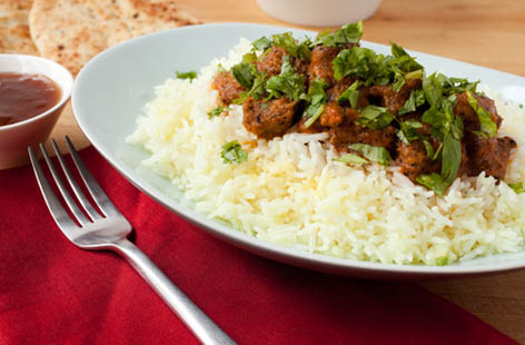 Chicken, beef or lamb madras