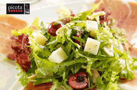Serrano ham and manchego salad