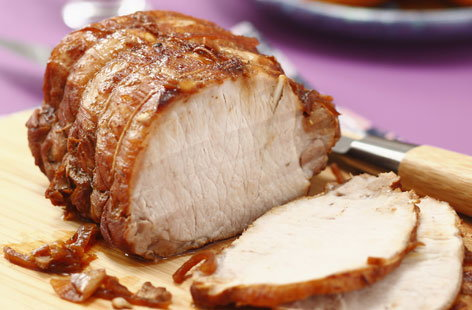 Double mustard roast pork