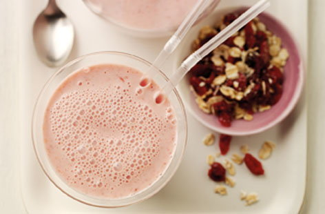 Oaty cranberry smoothie