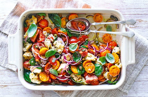 Tuck into super summer salads, light veg-packed mains and nutritious snacks with our collection of healthy recipes