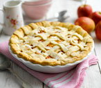 Apple, elderflower and almond pie