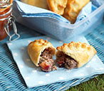 Pork, plum and sage pasties