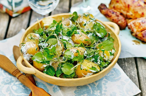 Potato salad with herb dressing