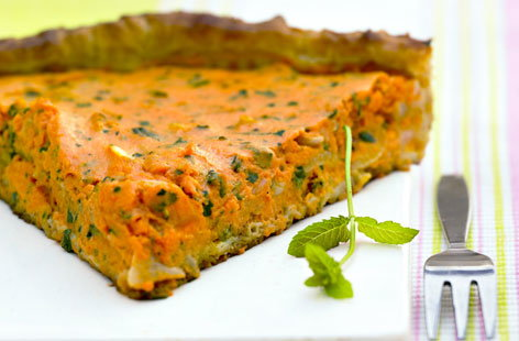 pumpkin herb quiche THUMB