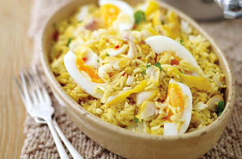 quick kedgeree with poached egg THUMB