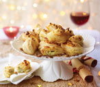Stilton and walnut puffs