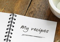 Our handy binder helps you keep track of all of your favourite recipes