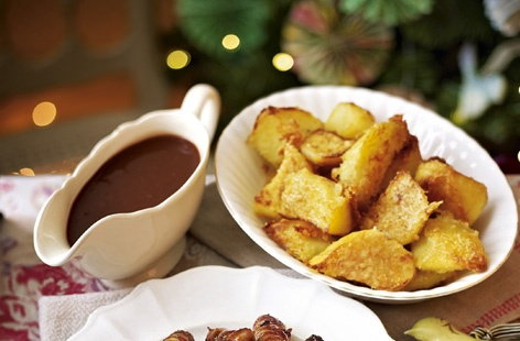 Roast potatoes with Parmesan