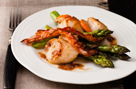 ... scallops with asparagus scallops dinner tonight scallops with sea