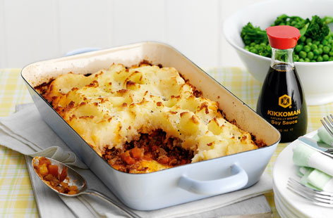 Shepherd's pie with Kikkoman
