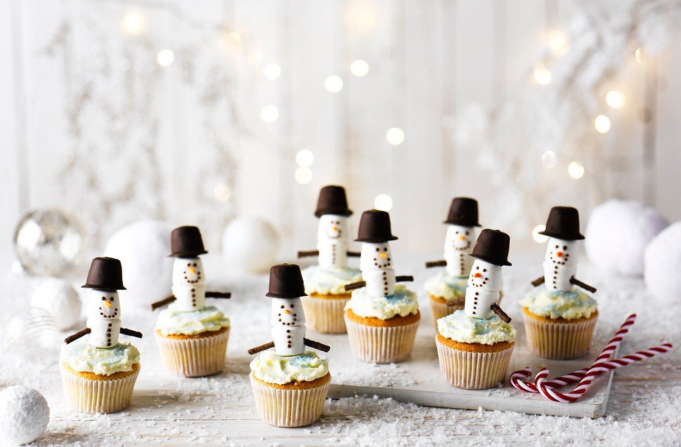 Snowman cupcakes tesco real food for Edible christmas gifts to make in advance