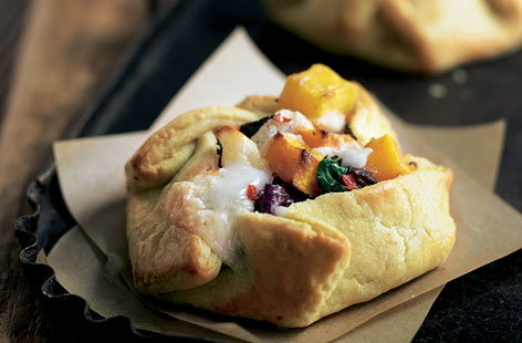 Spiced root veg pies
