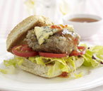 Pork and stilton burgers
