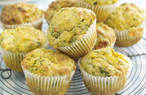 Stilton and watercress muffins