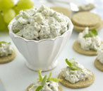 Stilton and spring onion pate