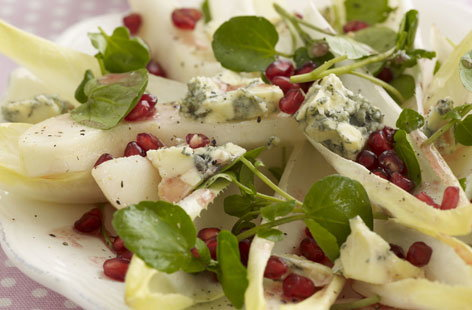 Stilton and pomegranate salad