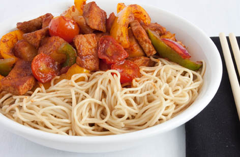 sweet and sour pork noodle 1