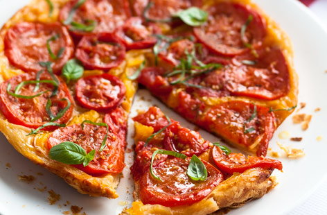 Tomato and pepper tarte Tatin