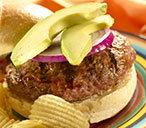 (t)onion and avocado beef burgers Knorr TESCO