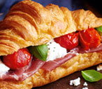 finest* parma ham, mozzarella and roast cherry tomato croissants