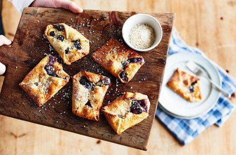 Blueberry and coconut pastries