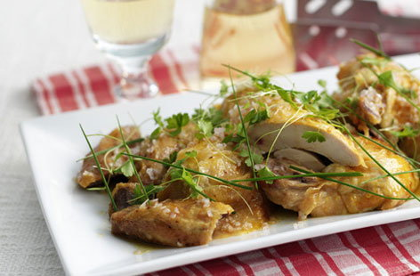 warm chicken a la vinaigrette (h)