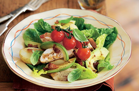 warm chicken bacon salad HERO